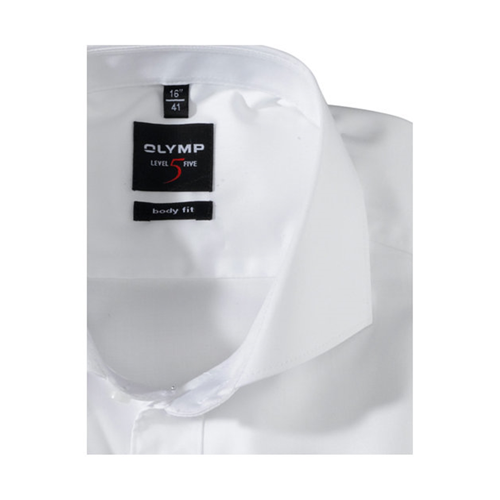 Olymp Level Five Body Fit Shirt  - Fine Twill White- 2007 64 00