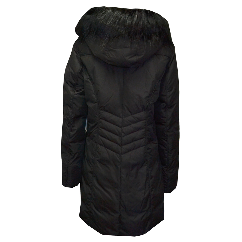 Betty Barclay Quilted Coat With Hood - Black