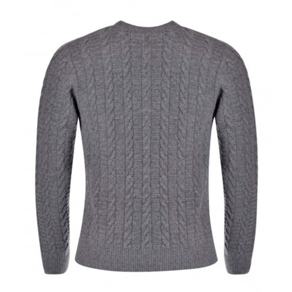 New For Autumn Hackett Cable Crew Jumper - Grey