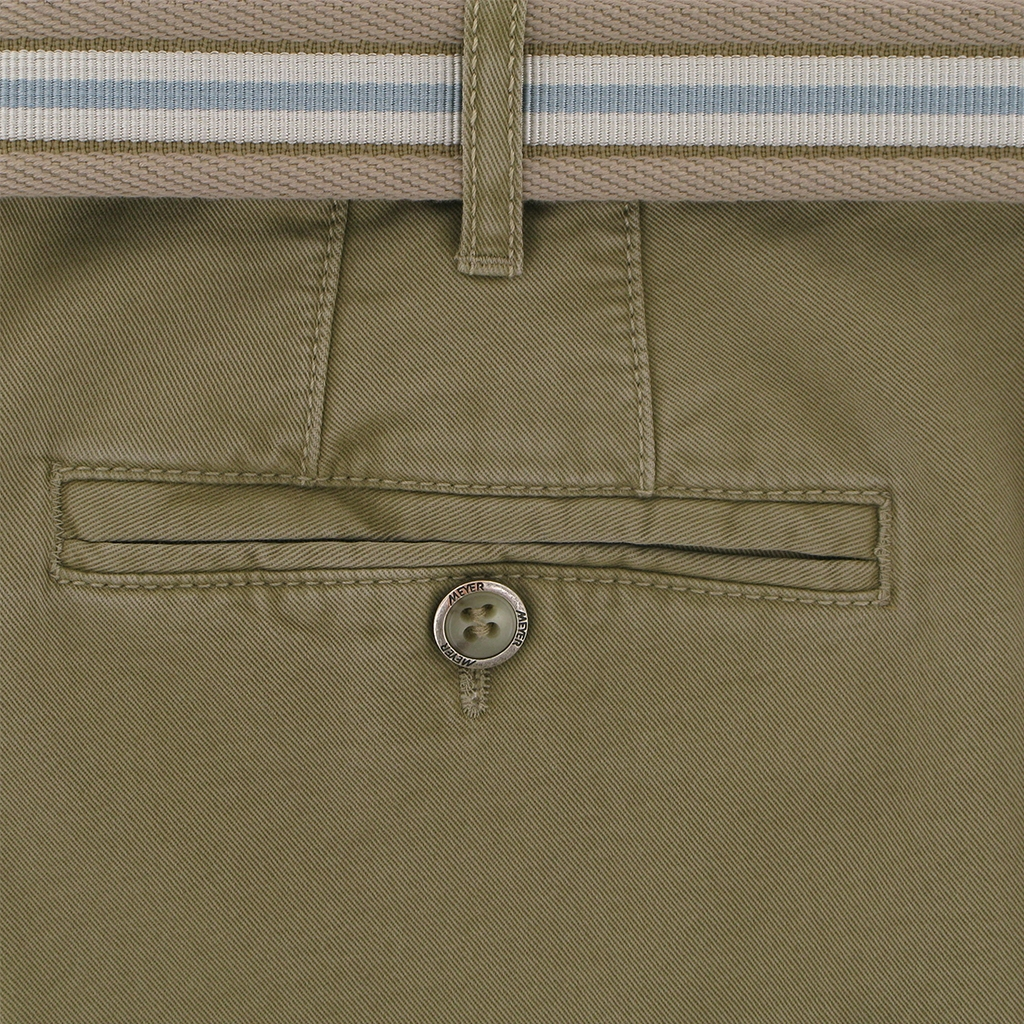 Meyer Trousers Luxury Cotton Twill Chino - Fawn - Style Madrid