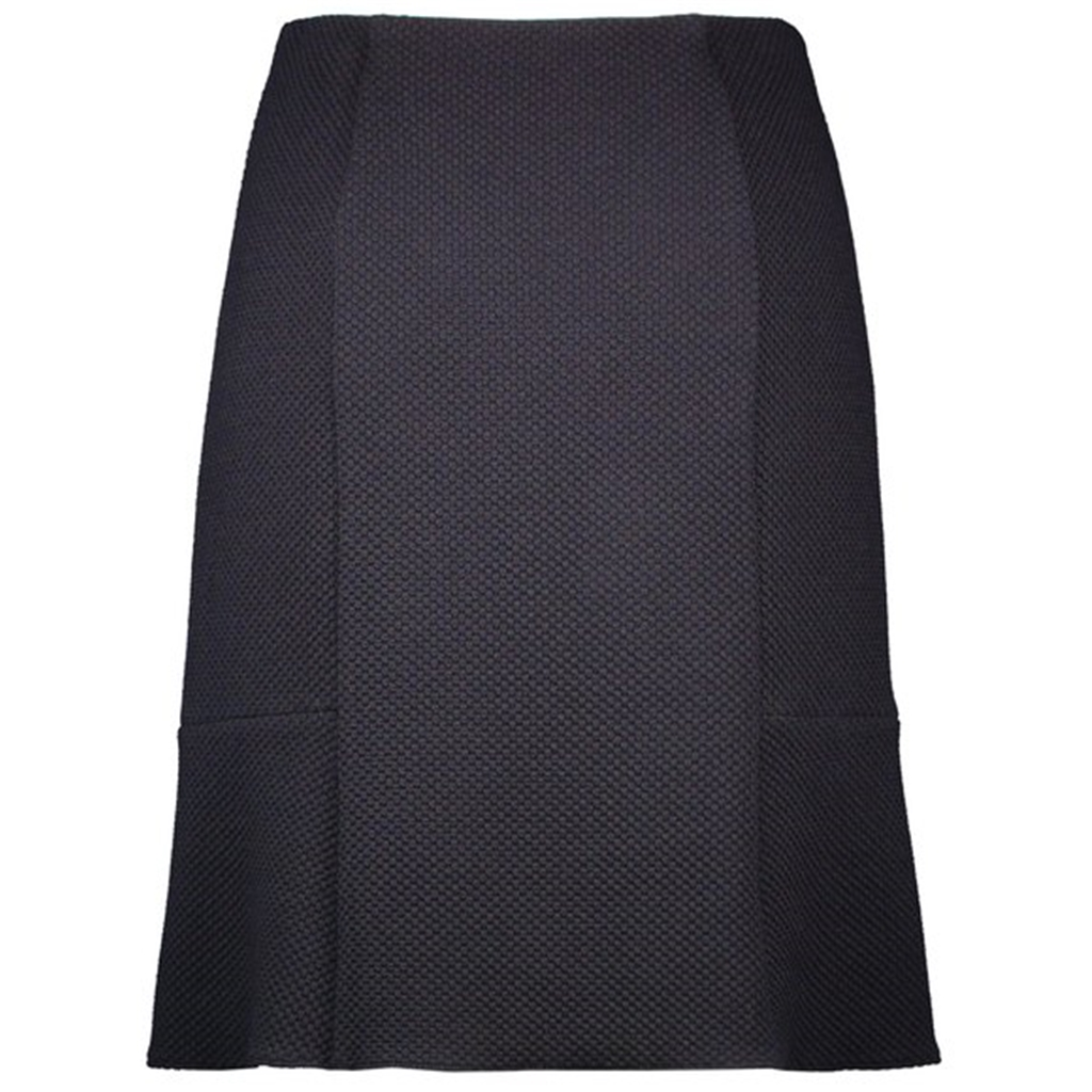 New 2018 Godet Skirt with minimalist jacquard - Indigo