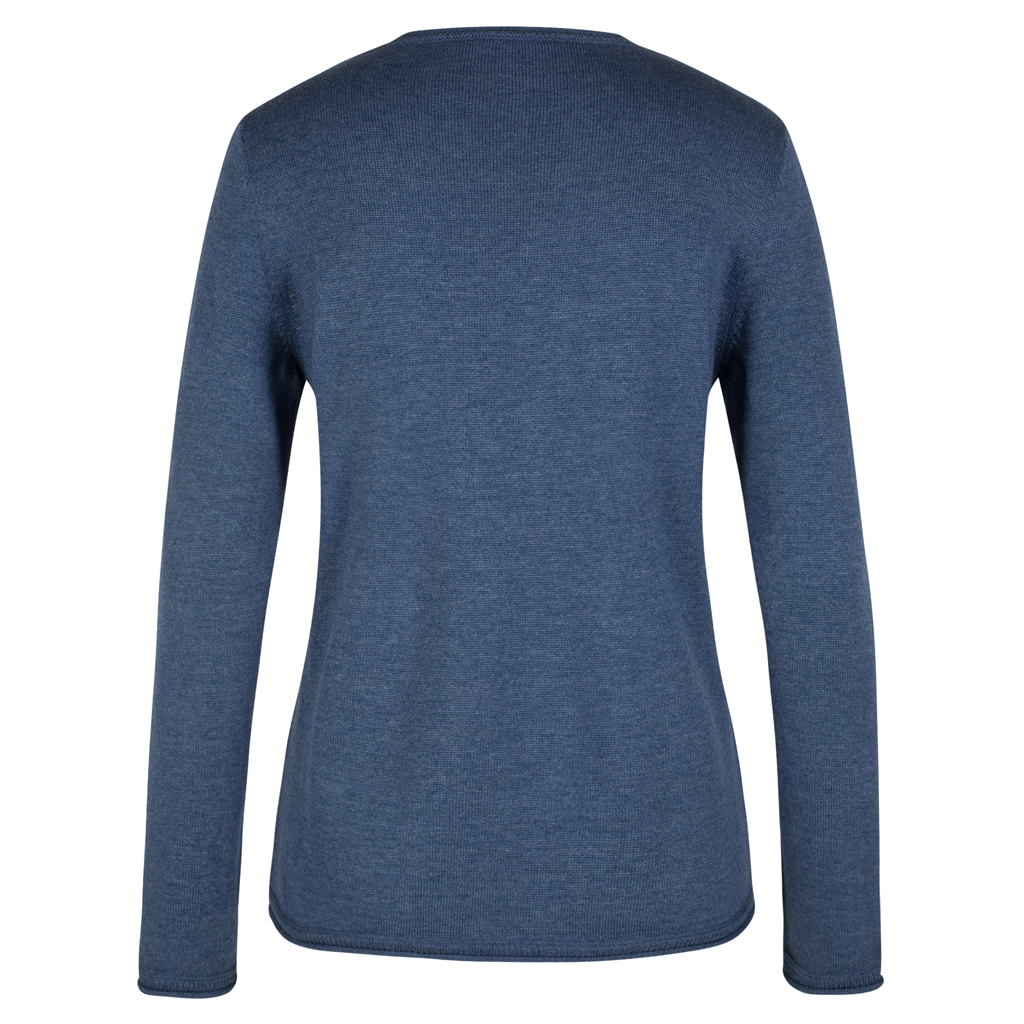 Olsen Cotton Blend pullover - Blue denim melange