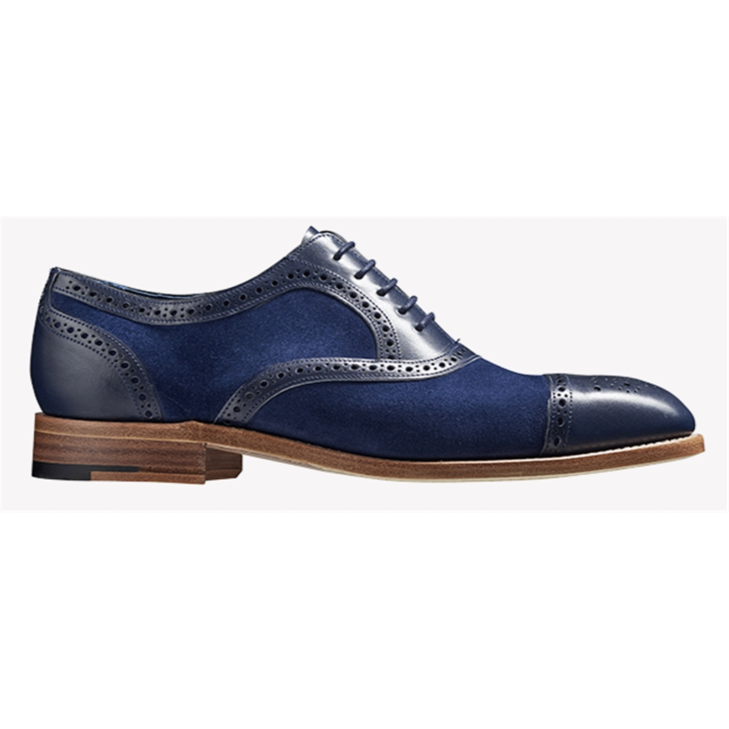 New 2018 Barker Shoes Style: Hursley - Blue Calf/ Blue Suede