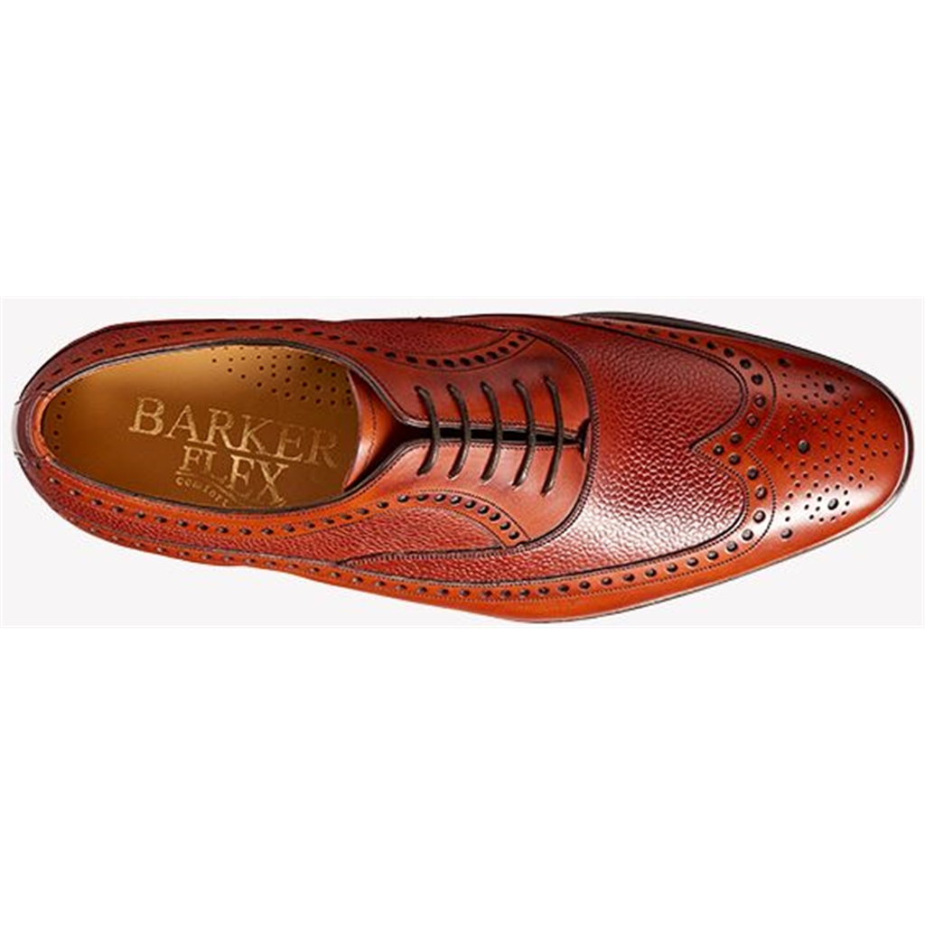 New 2018 Barker Shoes Style: Lamport - Rosewood Calf/ Rosewood Grain