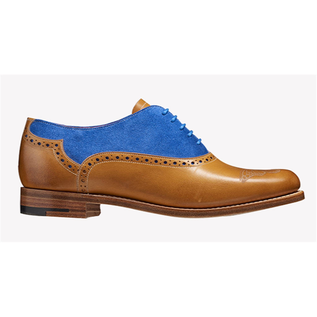 New 2018 Women's Barker Shoes Style: Gwen - Cedar Calf/ Blue Suede