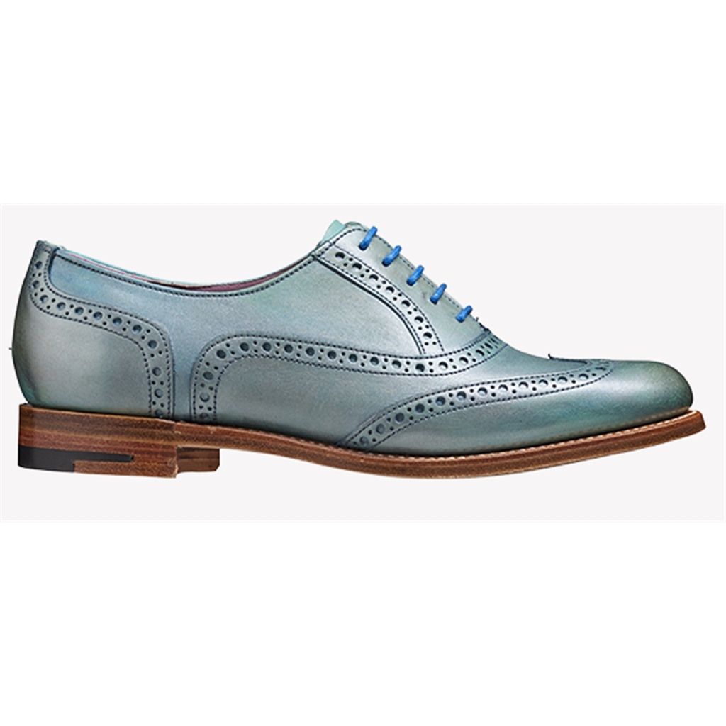 New 2018 Women's Barker Shoes Style: Santina - Aqua/ Silver Hand Painted
