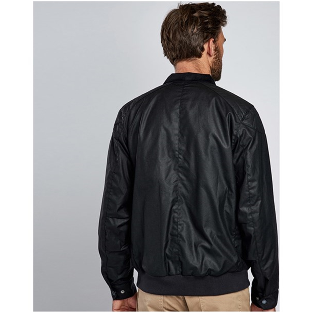 New 2018 Barbour Men's International Spec Wax Jacket - Black