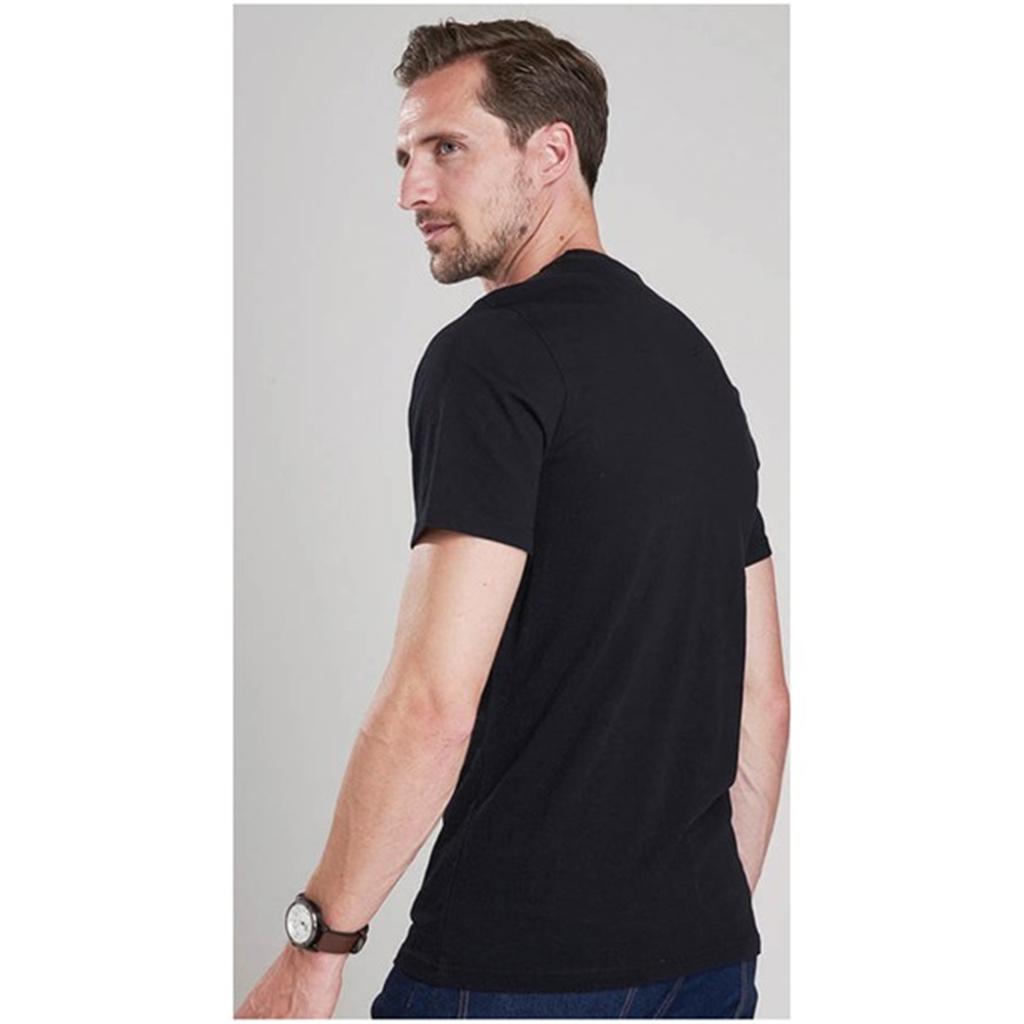 New 2018 Barbour Men's International Small Logo Tee - Black
