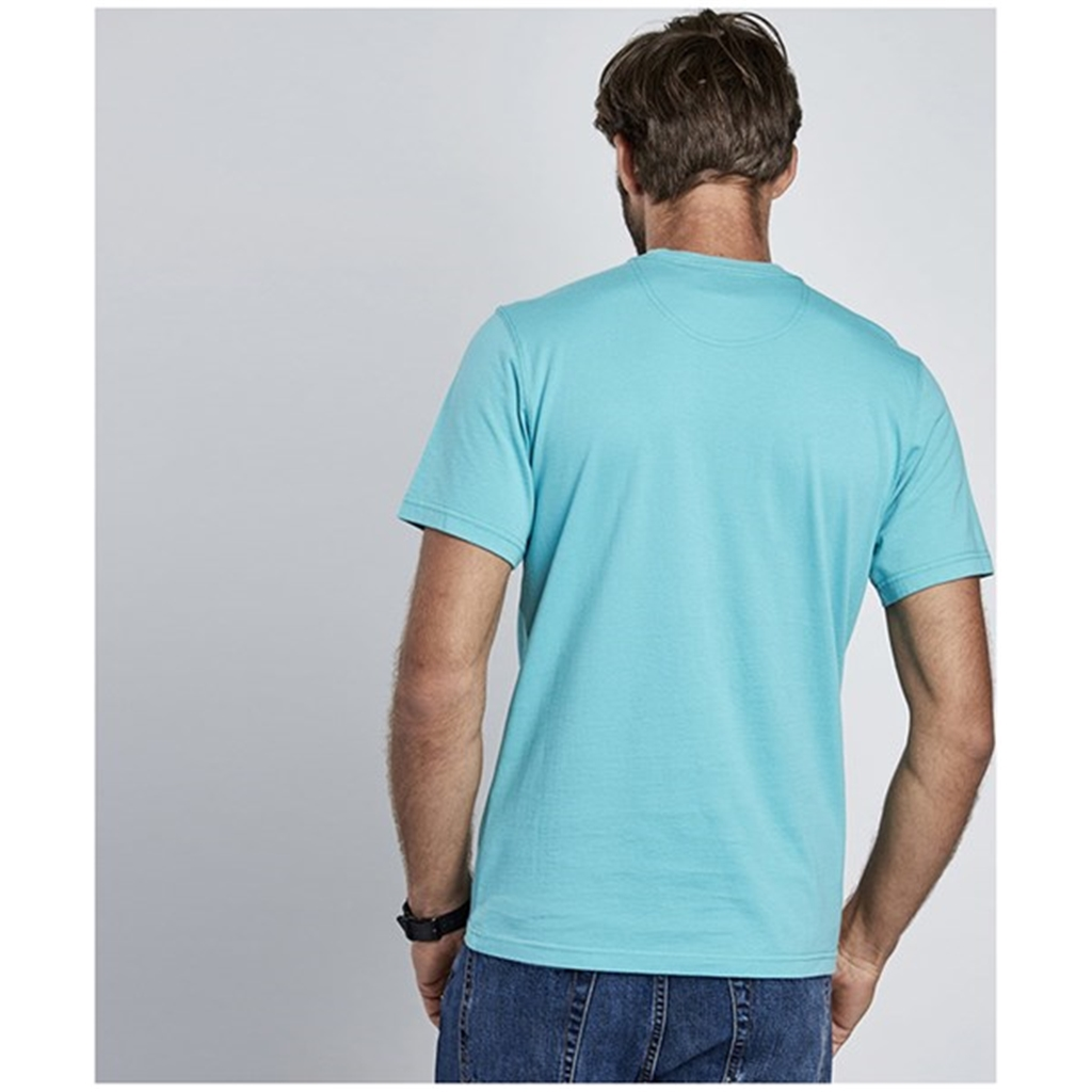 New 2018 Barbour Men's International Small Logo Tee - Turquoise