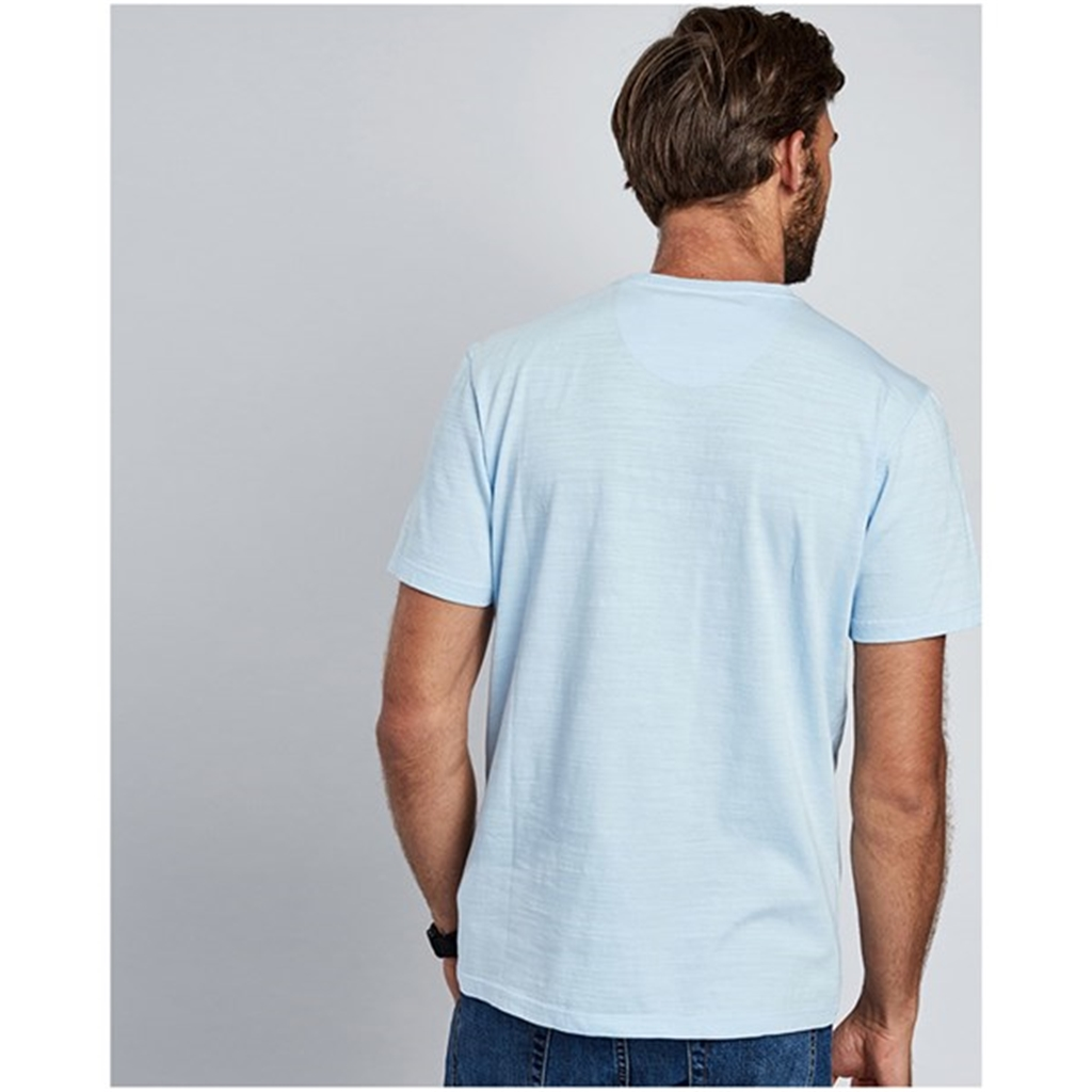New 2018 Barbour Men's Intl Steve McQueen Profile Tee - Sky