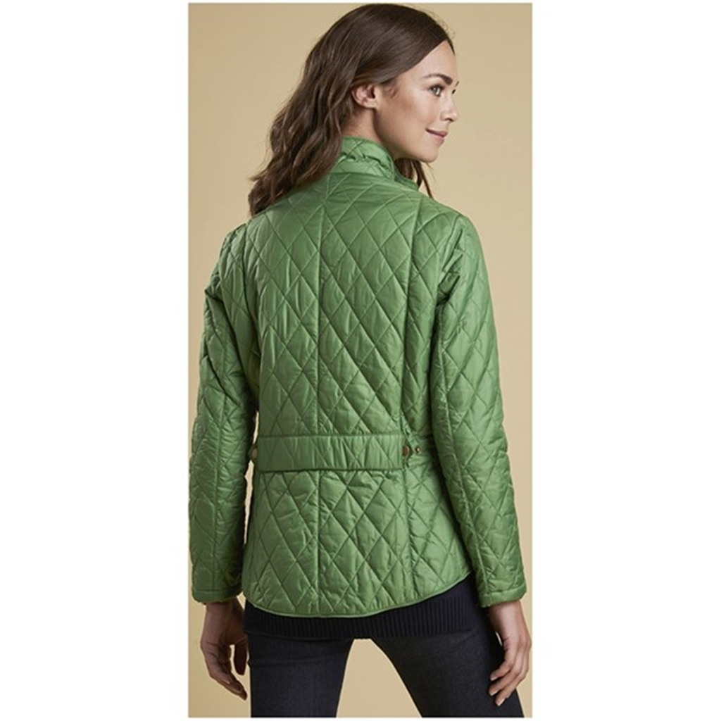 New 2018 Barbour Women's Flyweight Cavalry Quilted Jacket - Clover