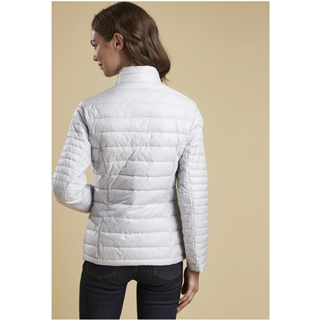 New 2018 Barbour Women's Iona Quilted Jacket - Ice White