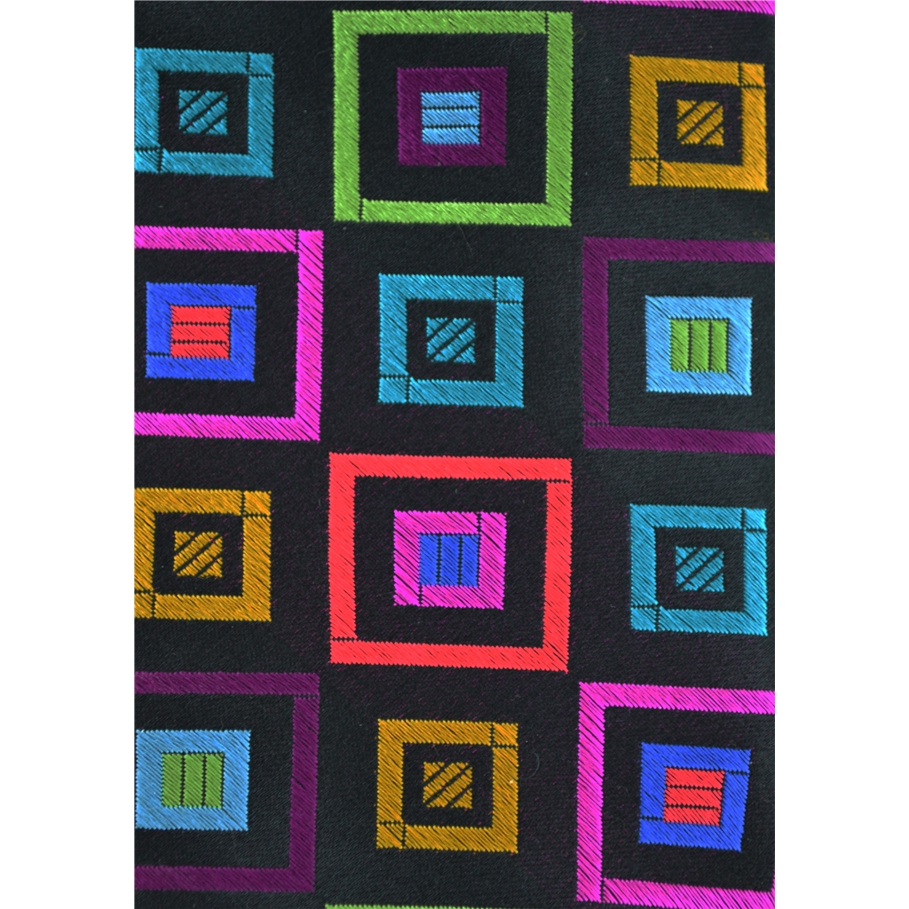 Van Buck Limited Edition - Multi Coloured Square Design Tie