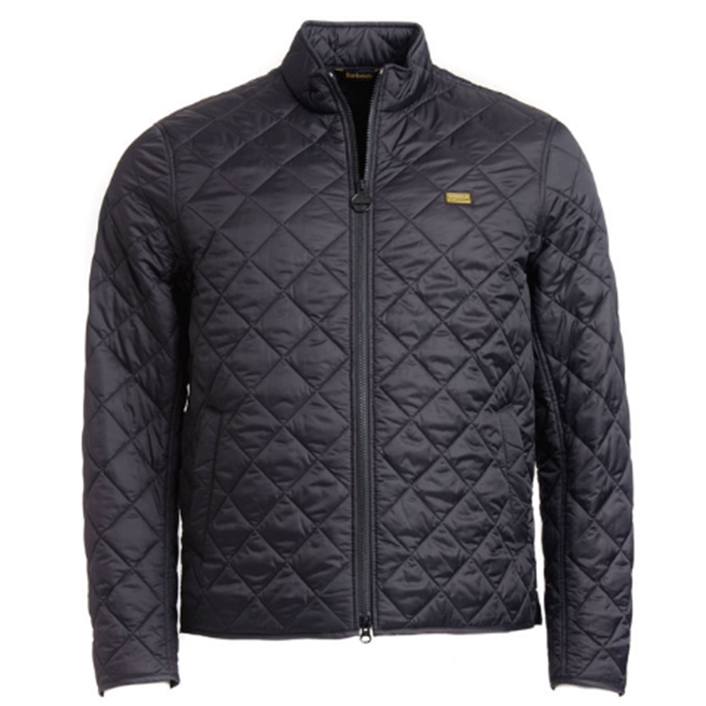 New 2018 Barbour Men's International Gear Quilted Jacket -  Black