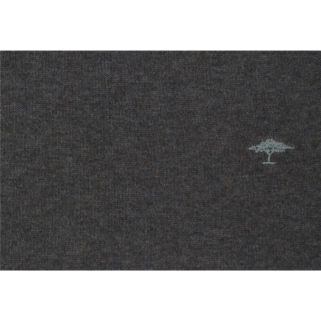 New 2018 Fynch Hatton Superfine Cotton Crew Neck - Earth