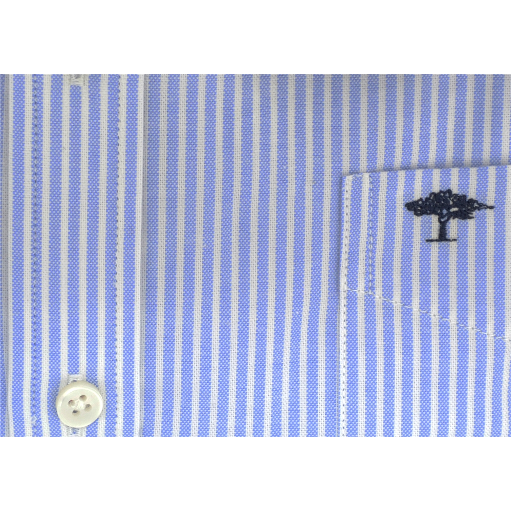 New 2018 Fynch Hatton Shirt - Blue Stripe