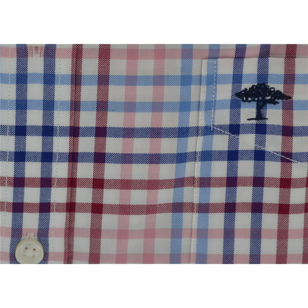 New 2018 Fynch Hatton Shirt - Berry/Blue