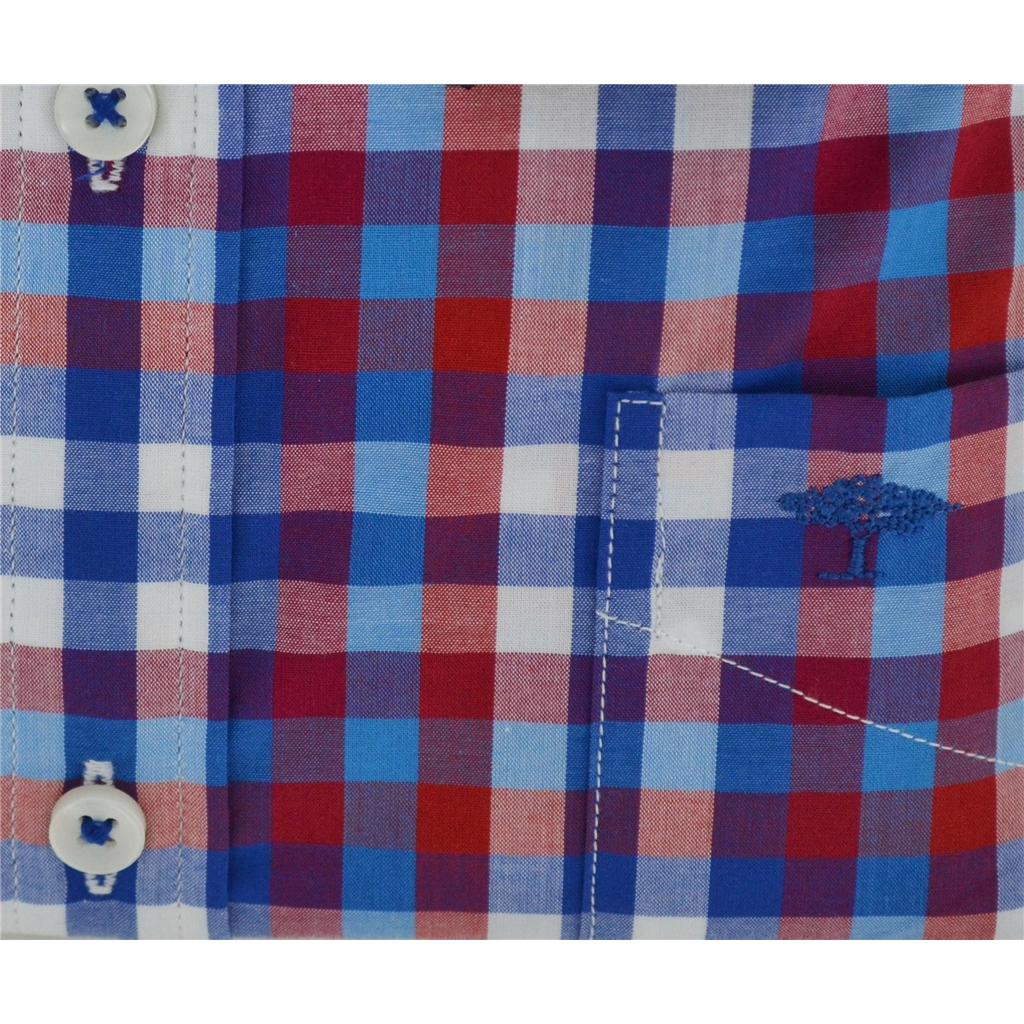 New 2018 Fynch Hatton Shirt - Red/Navy