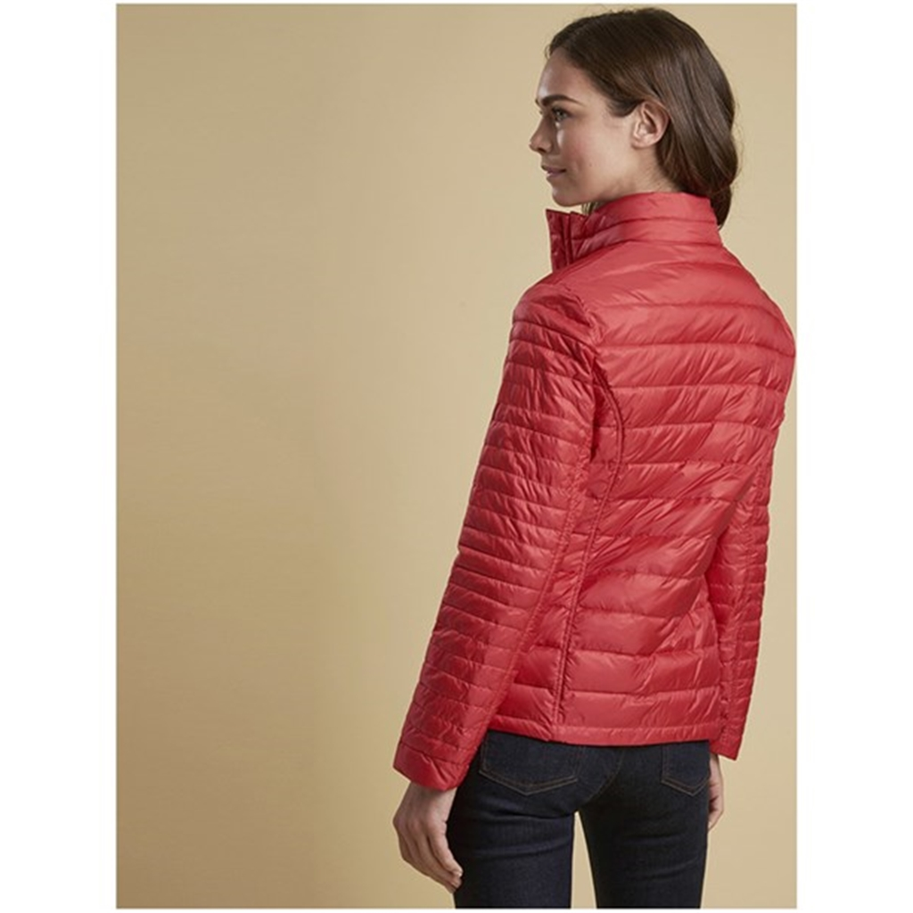 New 2018 Barbour Women's Iona Quilted Jacket - Tartan Red