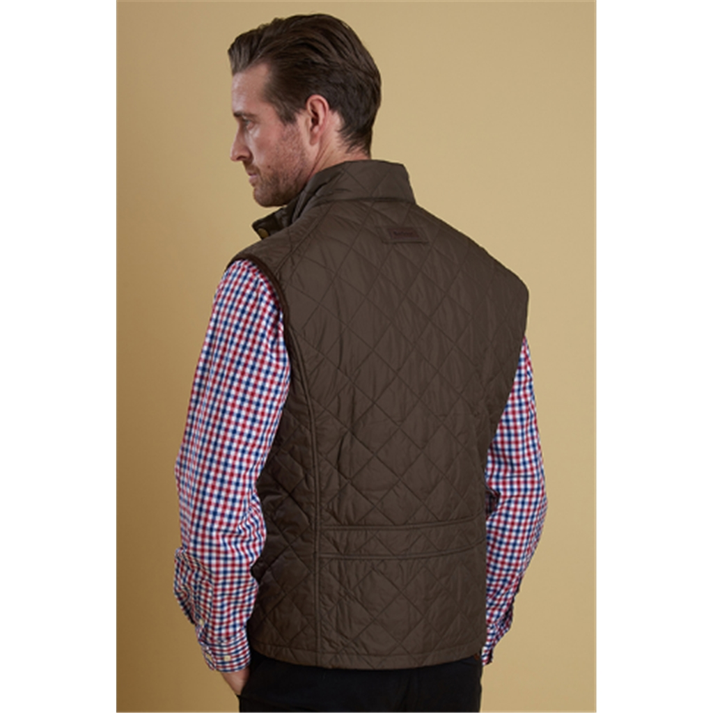 New 2018 Barbour Men's Explorer Quilted Gilet - Dark Olive