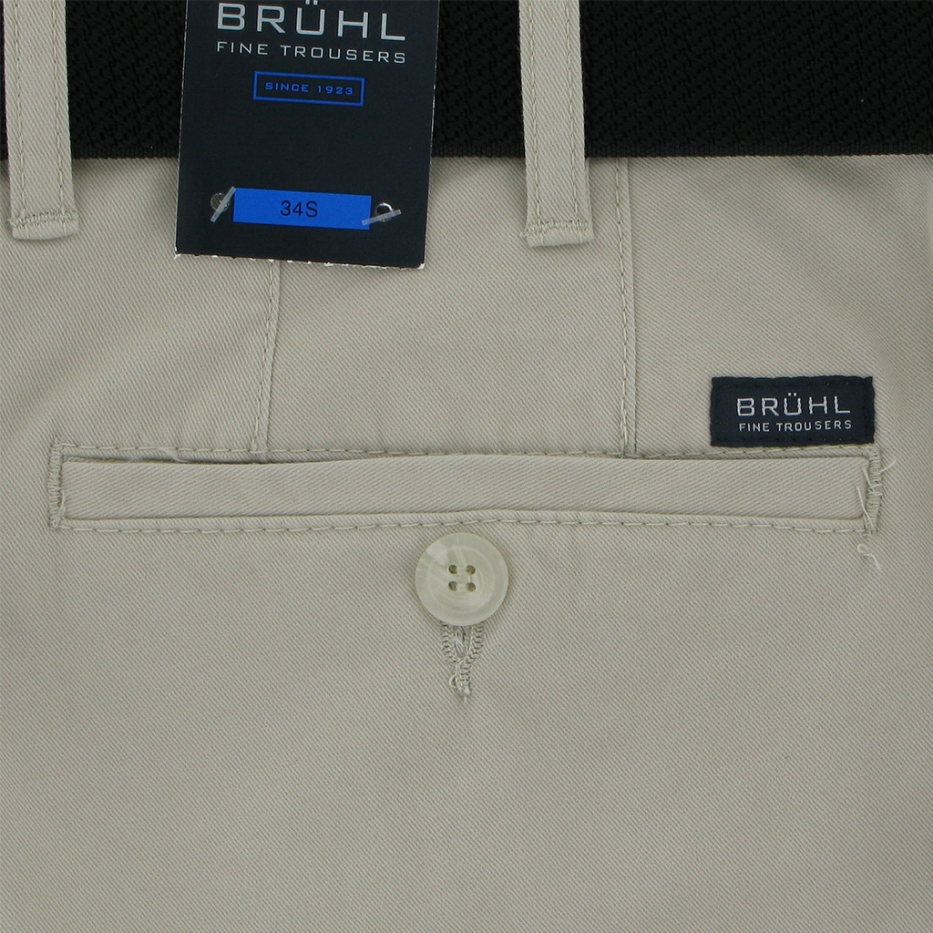 New 2018 Bruhl Cotton Trouser - Beige - Chester 180000 110