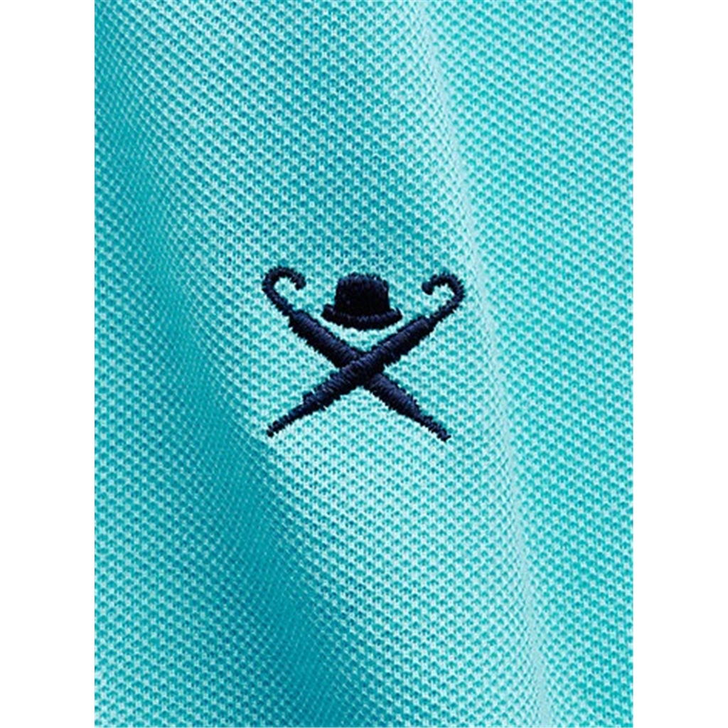 New 2018 Hackett Print Polo - Turquoise