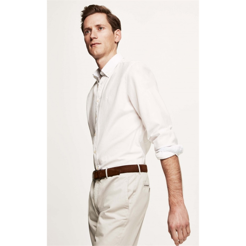 New 2018 Hackett Cotton Oxford Shirt - Optic White