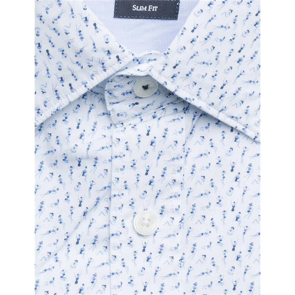 New 2018 Hackett Bikini girl shirt - Navy/White