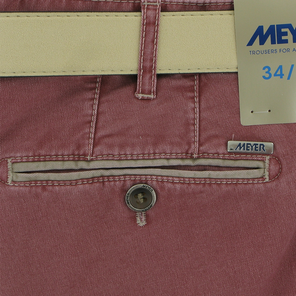 New 2018 Meyer Trouser Cotton  - Washed Red - New York 5001 53 Online Exlusive