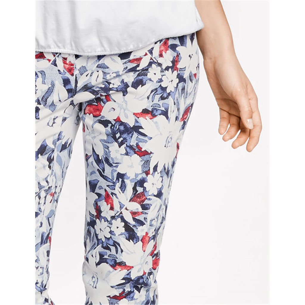 New 2018 Gerry Weber Floral Trousers - Blue
