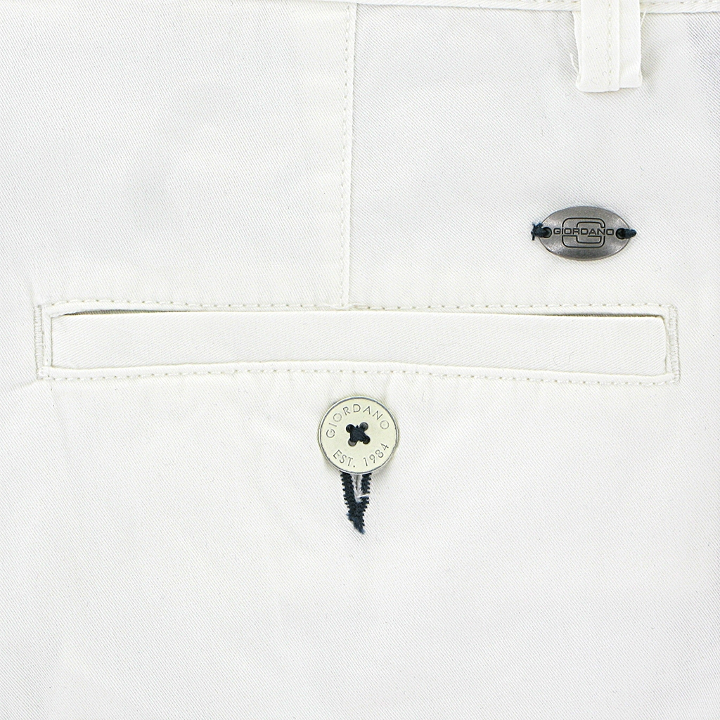 New 2018 Giordano Cotton Shorts - White