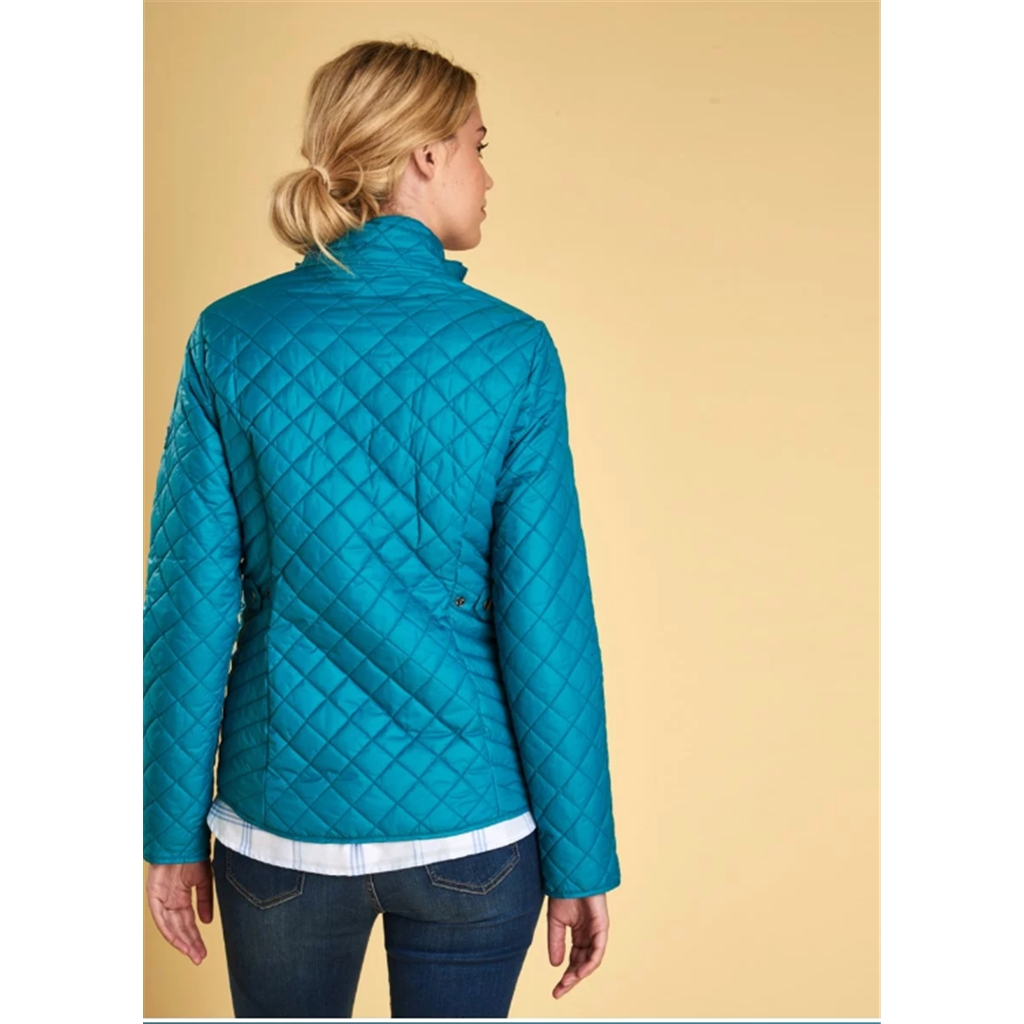 New 2018 Barbour Women's Formby Quilted Jacket - Sea Glass
