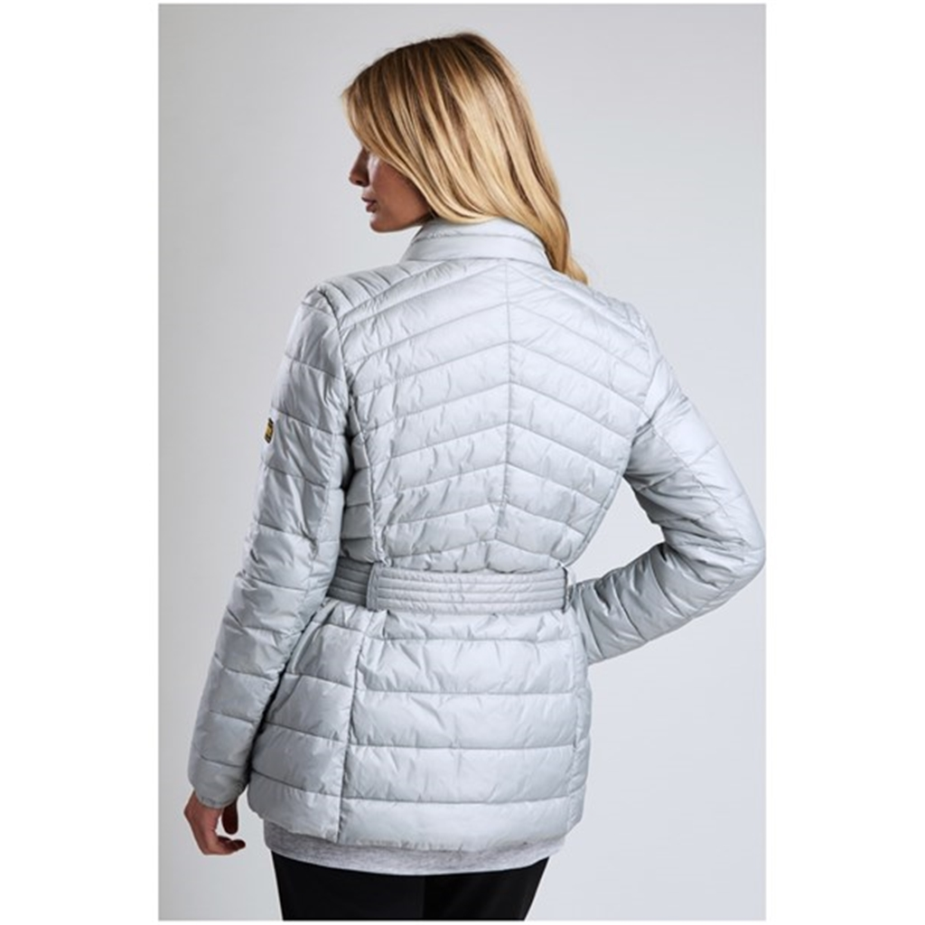 New 2018 Barbour International Hedemora Quilted Jacket - Ice White