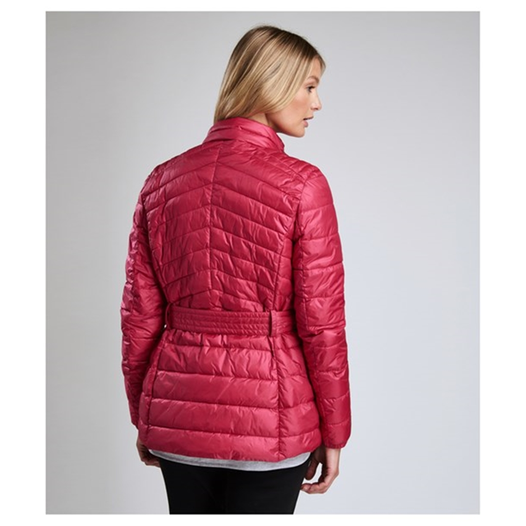 New 2018 Barbour International Hedemora Quilted Jacket - Fuchsia