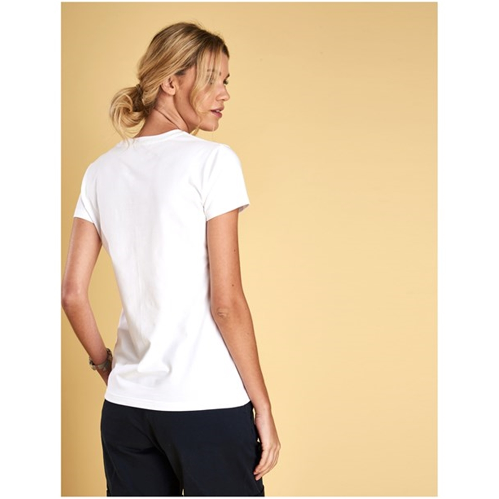 New 2018 Barbour Formby Tee - White