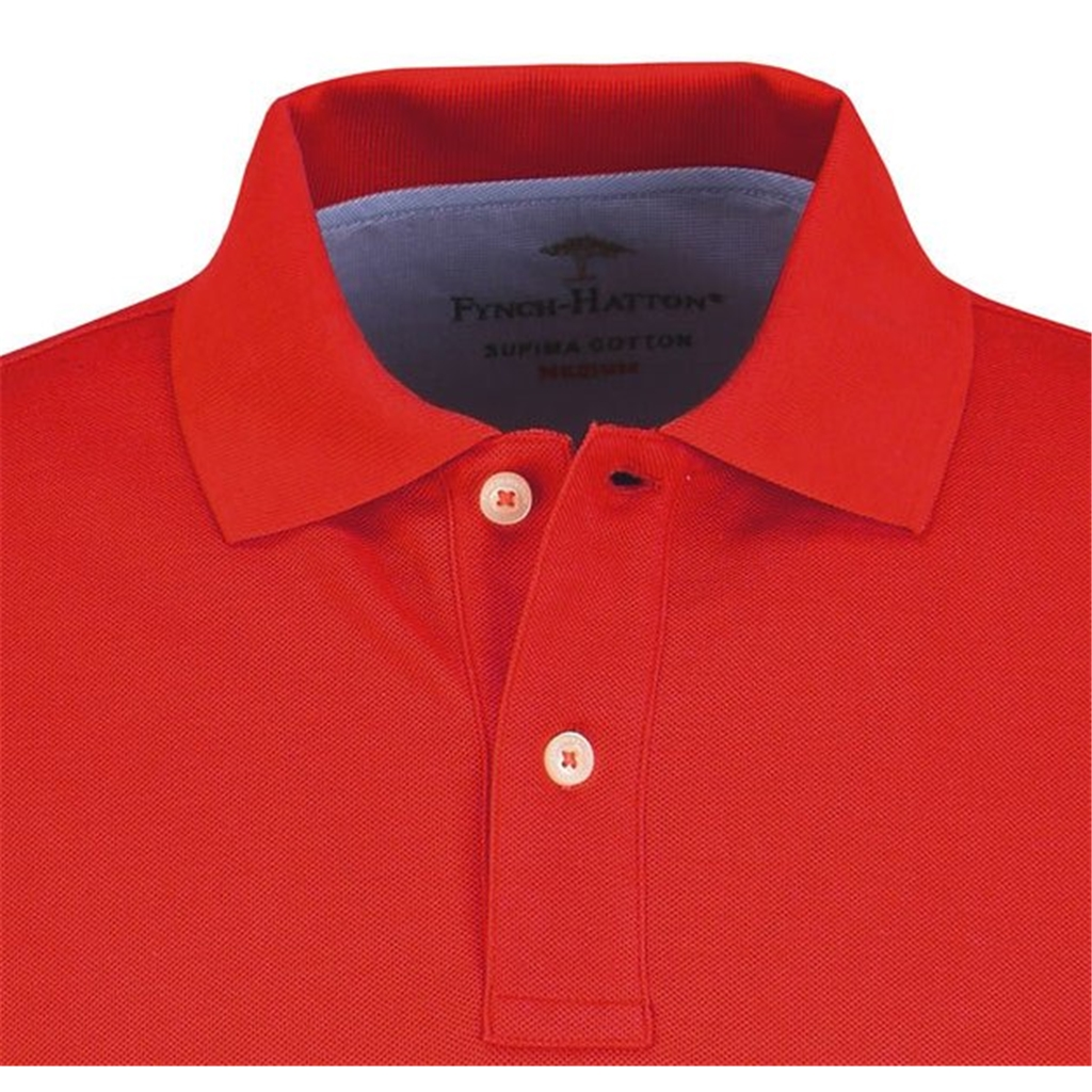 Fynch Hatton Supima Cotton Polo Shirt - Red