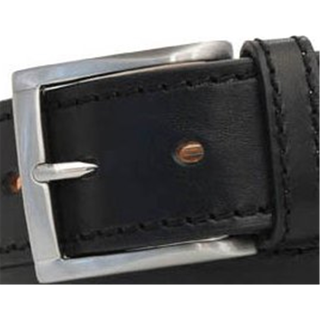 Black Leather Jeans  Belt by Robert Charles