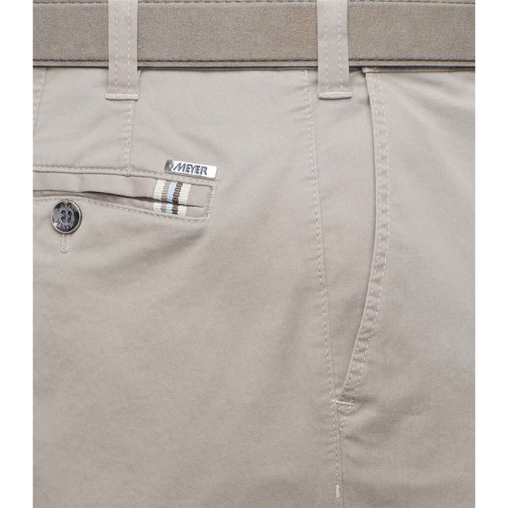 New 2021 Meyer Summer Cotton Trouser - Beige Oslo 3001 32 - Continental Sizing