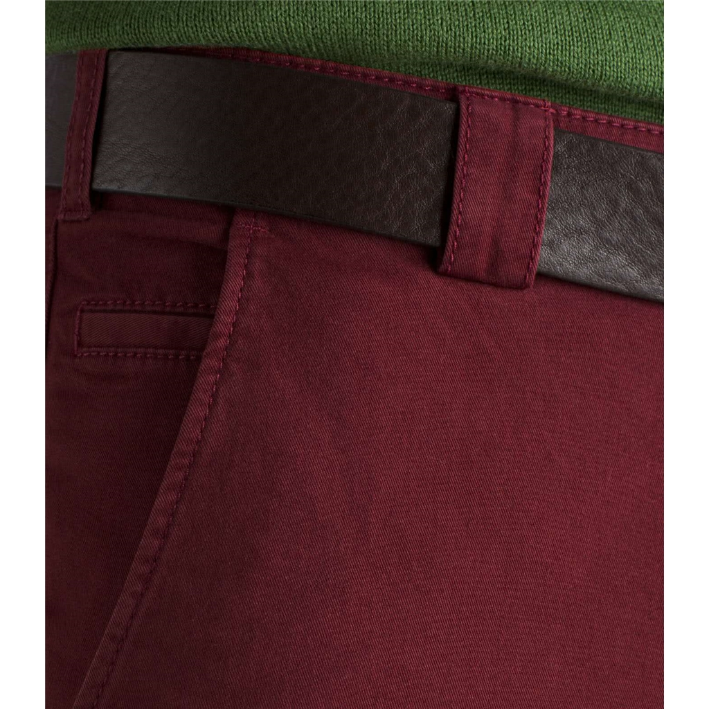 Meyer Trouser Soft Cotton Chino - Red - Roma 316 55 - Continental Sizing