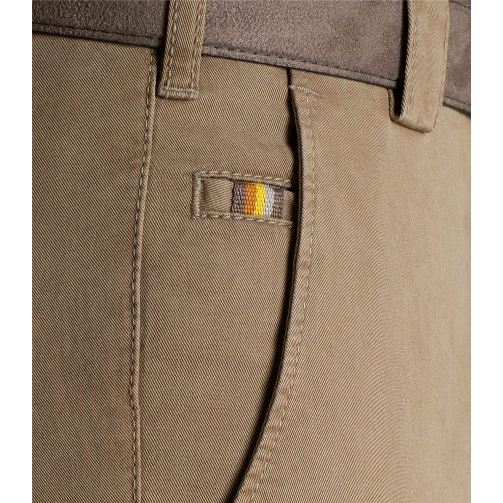 Meyer Trouser Soft Cotton Chino - Beige - Roma 316 33 - Continental Sizing