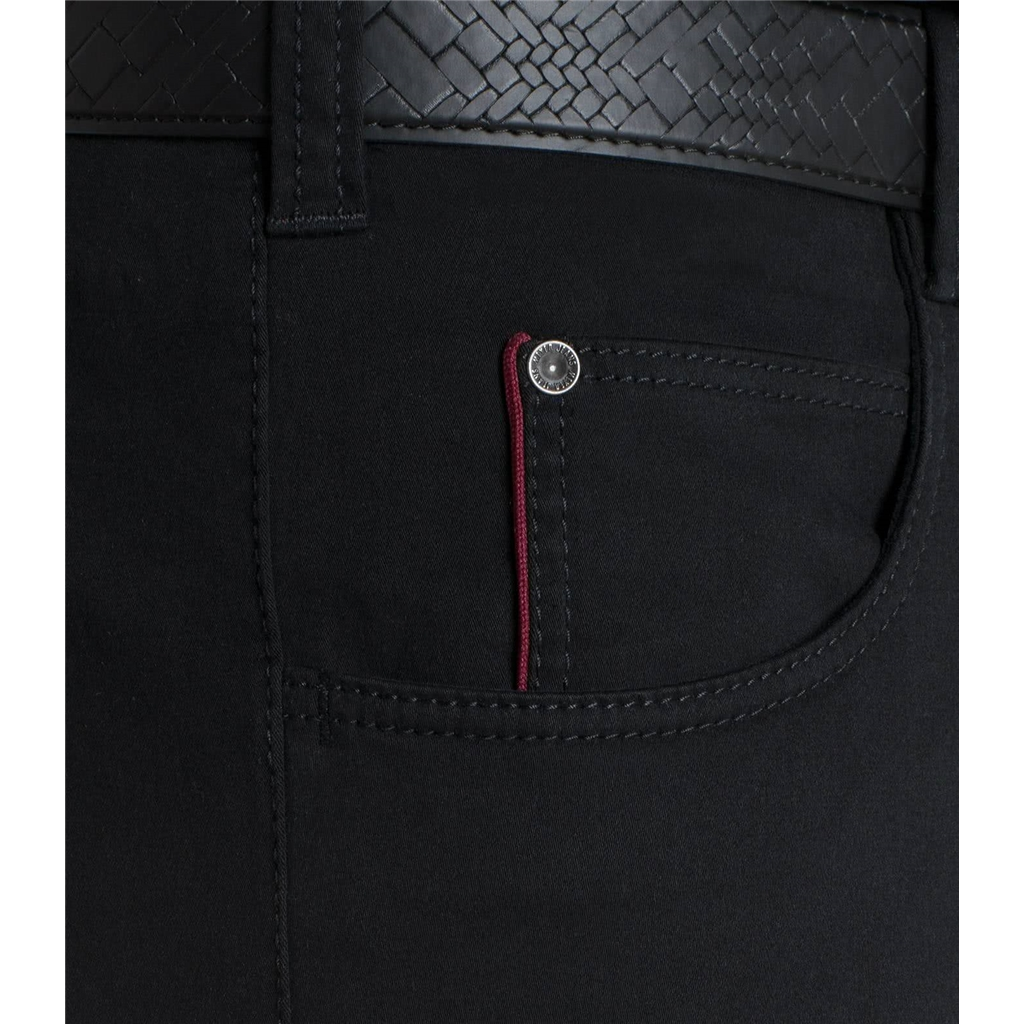 Meyer Cotton Trousers - Black -  Diego 3000 09 - Continental Sizing