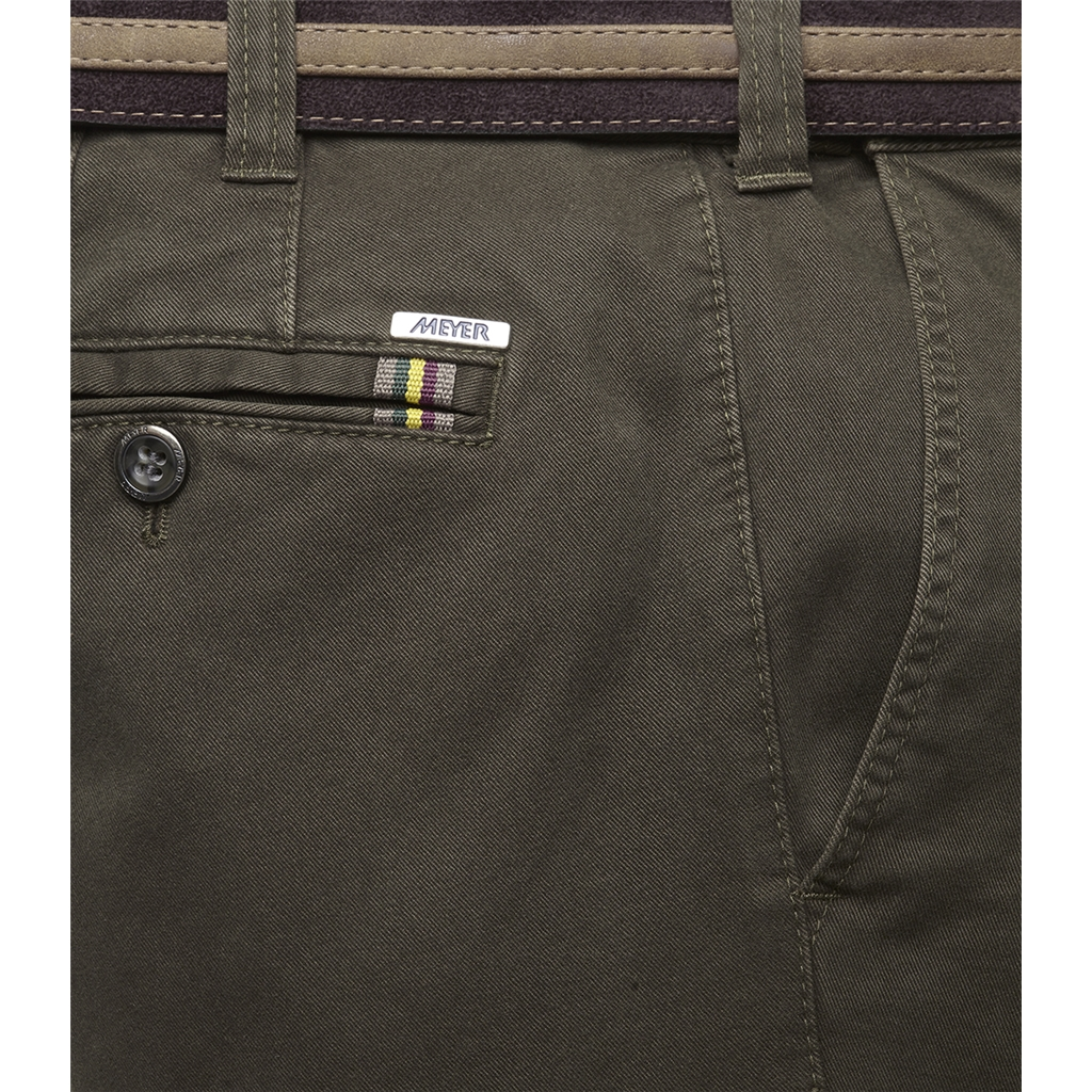 New Autumn 2021 Meyer Cotton Trousers - Olive - Oslo 5552 26 - Continental Sizing