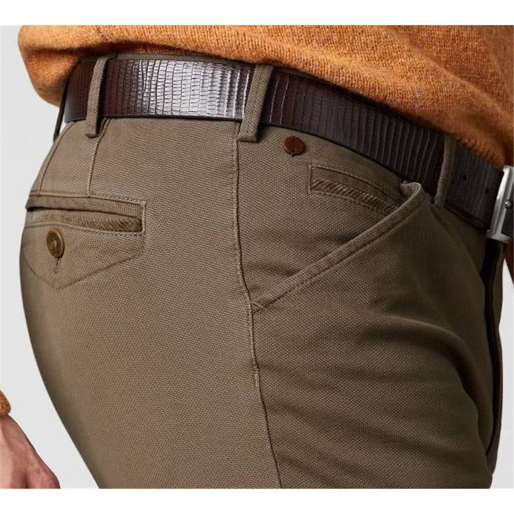 New Autumn 2021 Meyer Cotton Trousers - Stone -  Chicago 5580 35 - Continental Sizing