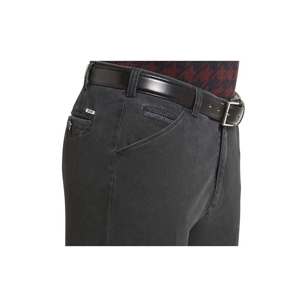 New Autumn 2021 Meyer Cotton Trousers - Charcoal - Chicago 5568 08 - UK Inch Sizes