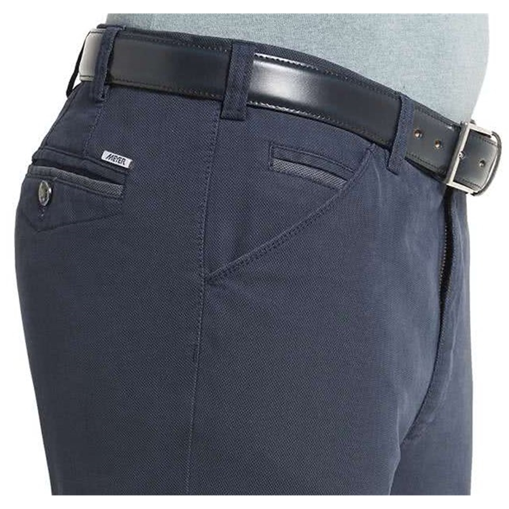 New Autumn 2021 Meyer Cotton Trousers - Blue - Chicago 5566 18