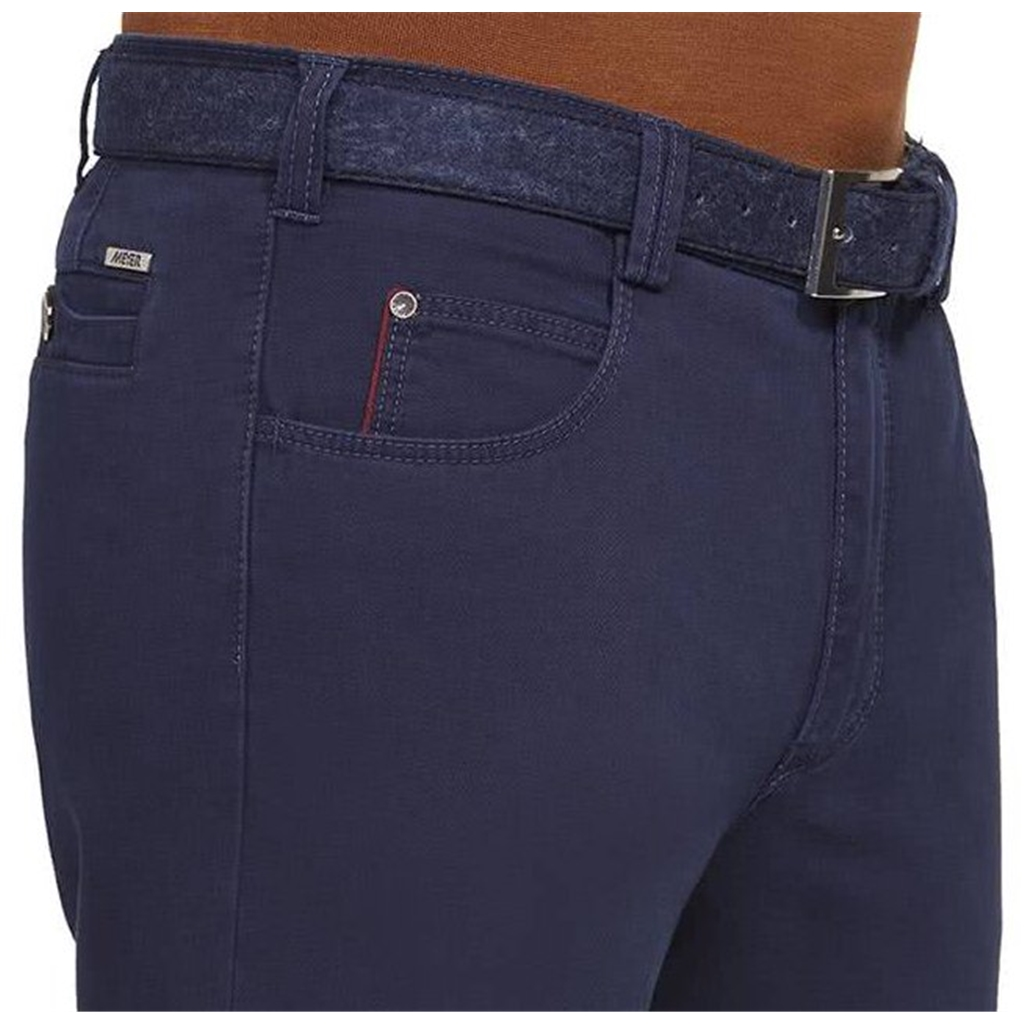 New Autumn 2021 Meyer Cotton Trousers - Blue - Diego 5552 17 - Continental Sizing