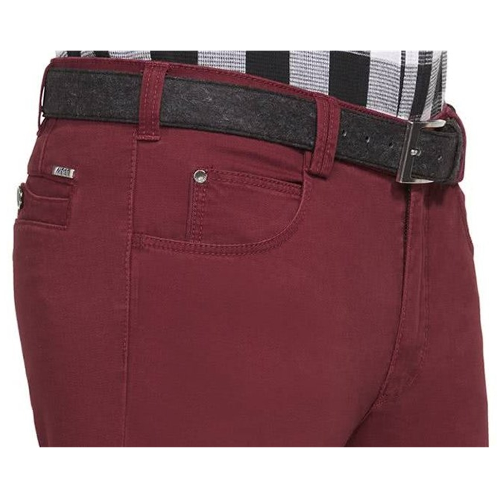 New Autumn 2021 Meyer Cotton Trousers - Bordeaux - Diego 5552 54 - Continental Sizing
