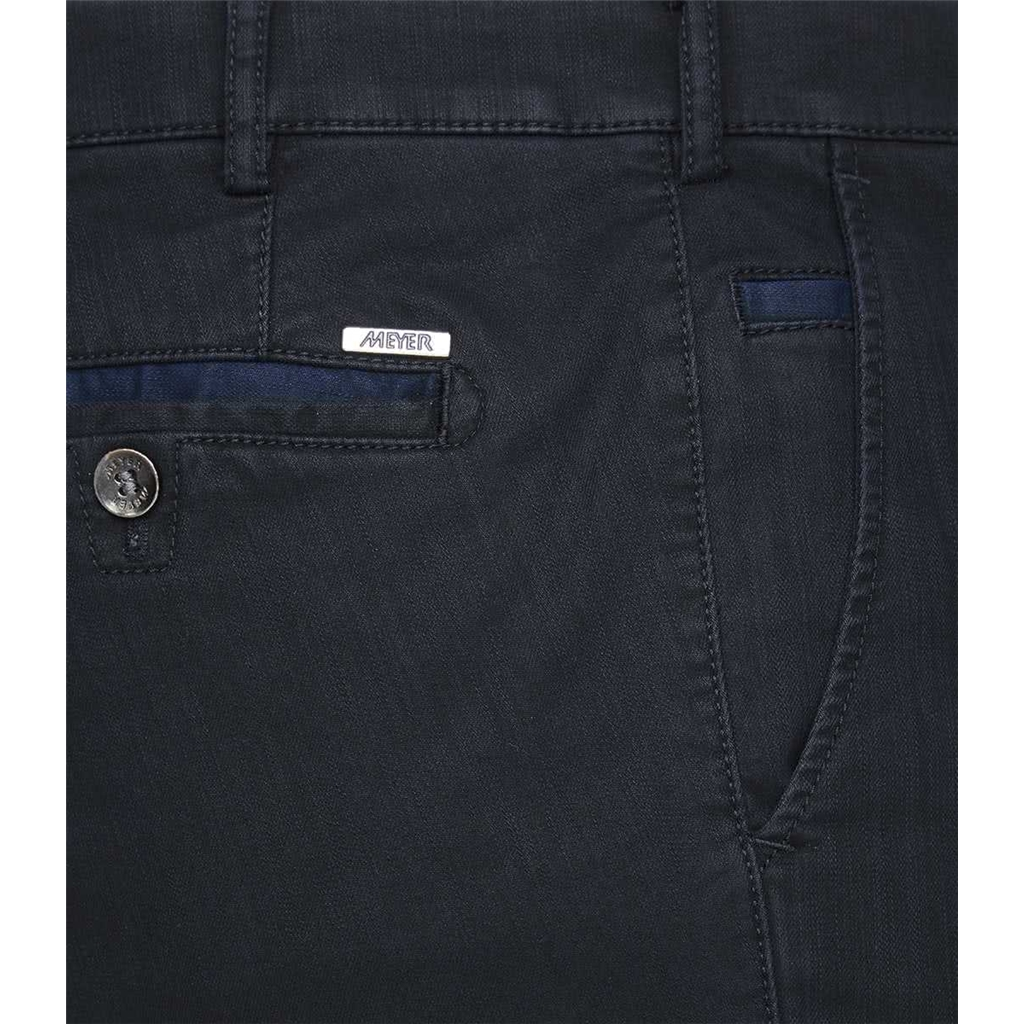 Meyer Thermal Cotton Trouser - Navy - Roma 3915 19 - Continental Sizing