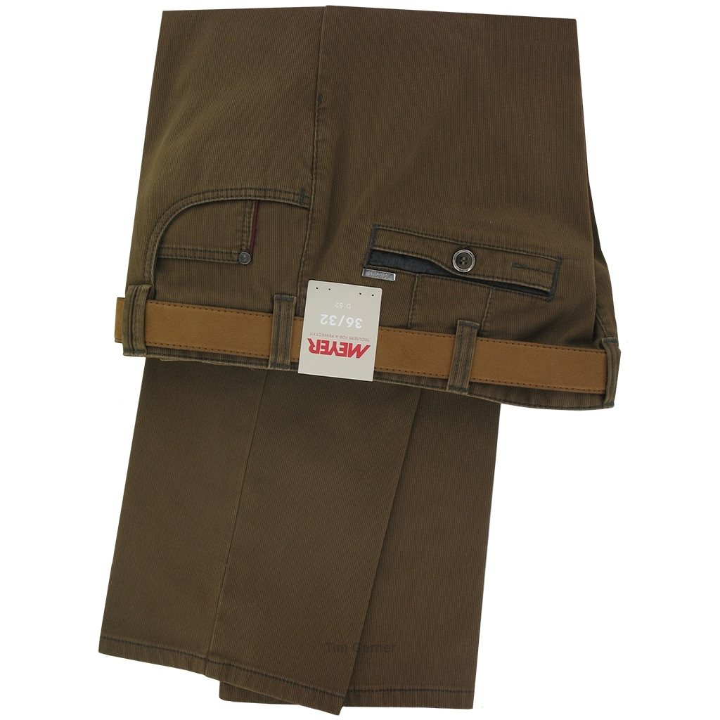 TimGarner.co.uk   Meyer Clearance   Meyer Trousers Luxury Winter Cotton - Tan - Style Diego