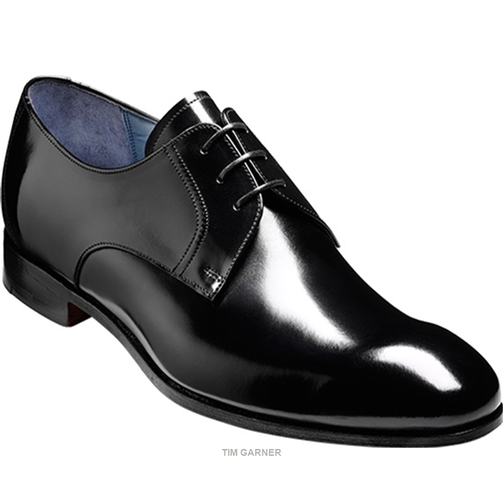 Barker Classic Black Oxford Shoes